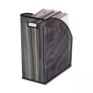 Rolodex Mesh Jumbo Magazine File - 1 Each - Black