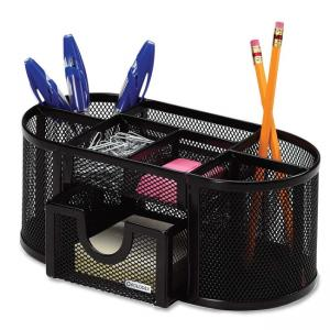 Rolodex Mesh Oval Pencil Cup - 1 Each - Black