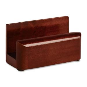 Rolodex 23330 Wood Tones Business Card Holder - Wood - 1 Each - Mahogany