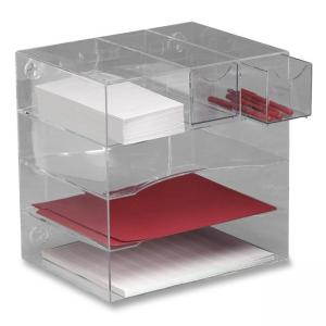 Rubbermaid Optimizer Four-Way Organizer with Drawers - 1 Each - Clear
