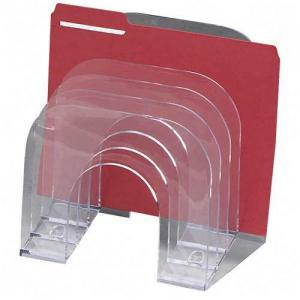 Rubbermaid Jumbo 6 Compartments Incline Sorter - 1 Each - Clear