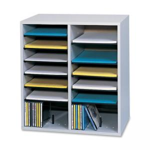 Safco 16 Compartments Adjustable Shelves Literature Organizer