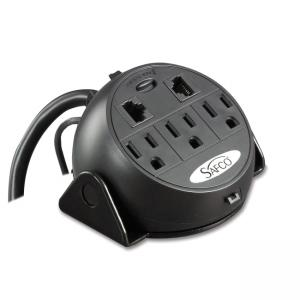 Safco 2059BL 3-Outlets Power Strip