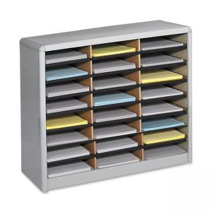 "Safco 24 Compartments Value Sorter Literature Sorter - 25.75"" Height x 32.25"" Width"