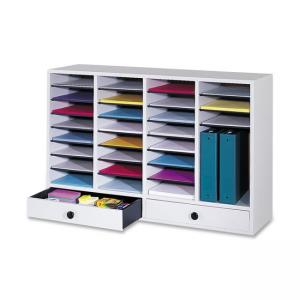 "Safco 32 Compartments Adjustable Literature Organizer - 25.37"" Height x 39.37"" Width"