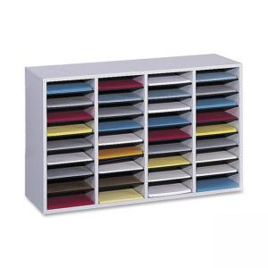 "Safco 36 Compartment Adjustable Shelves Literature Organizer - 24"" Height x 39.38"" Width"