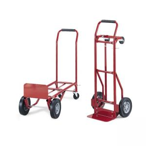 Safco Convertible Hand Truck - 1 Each - Red - Steel