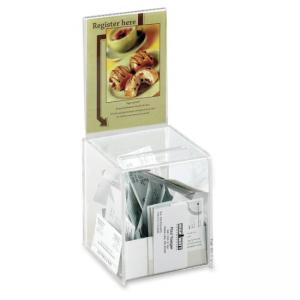 "Safco Acrylic Collection Box - 13"" Height x 5.50"" Width x 5.50"" Depth"