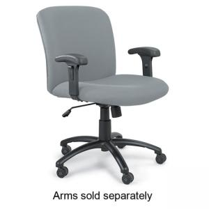 "Safco Big and Tall Executive Mid-Back Chair - 18.50"" to 22.50"" - Seat"