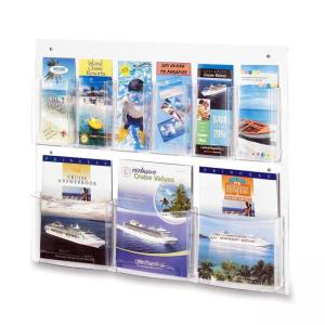 Safco Clear2c Magazine/Pamphlet Display - Clear - 1 Each