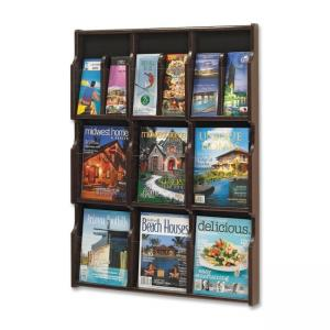 "Safco Expose Literature Rack - 38.25"" Height x 29.75"" Width x 2.50"" Depth"