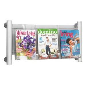 "Safco Luxe Literature Rack - 15.25"" Height x 31.75"" Width x 5"" Depth"