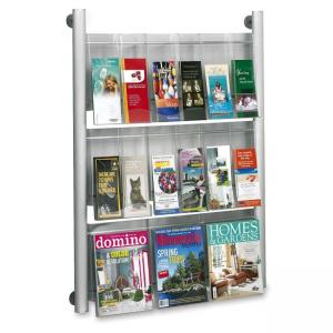 "Safco Luxe Magazine Rack - 41"" Height x 31.75"" Width x 5"" Depth"