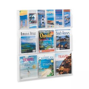 "Safco Magazine and Pamphlet Display Rack - 34.75"" Height x 30"" Width x 2"" Depth"