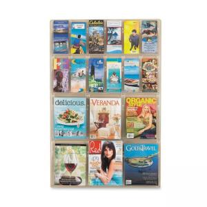 "Safco Magazine Pamphlet Display Rack - 45"" Height x 30"" Width x 2"" Depth"