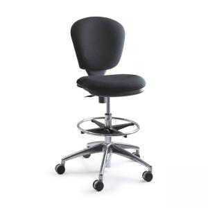 Safco Metro Extended Height Chair - Acrylic Black Seat - 1 Each