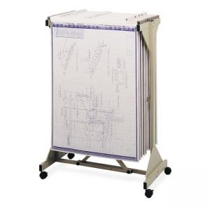 "Safco Mobile Blueprint Plan Center - 43.75"" Width x 20.50"" Depth x 51"" Height"