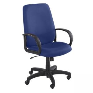 Safco Poise Collection Executive High-Back Chair -  Polyester - Blue - 1 Each