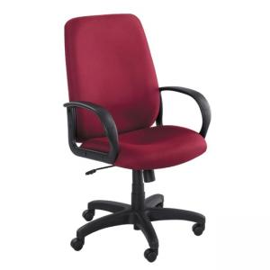 Safco Poise Collection Executive High-Back Chair - Polyester - Burgundy - 1 Each