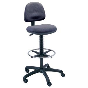 Safco Precision Extended Height Chair with Footring - Dark Gray - 1 Each