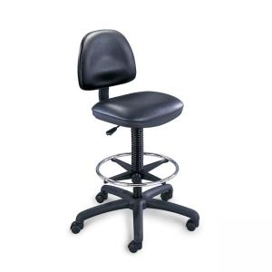 Safco Precision Extended Height Drafting Chair - Black - 1 Each
