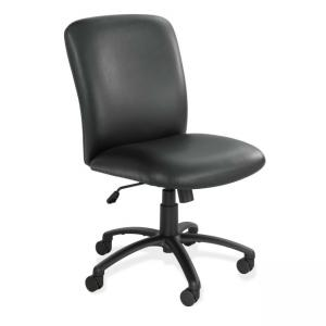 Safco Uber Big and Tall High Back Executive Chair - Vinyl - Black - 1 Each