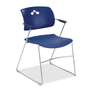 Safco Veer Stacking Chair - Blue