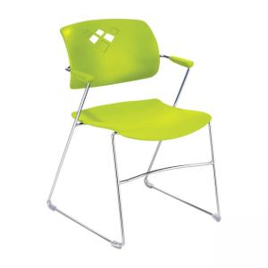 Safco Veer Stacking Chair - Grass Green