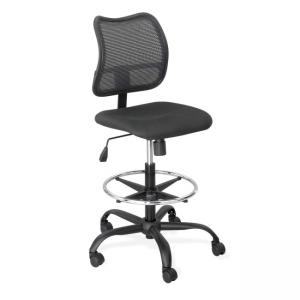 Safco Vue Extended Height Mesh Chair - 1 Each - Black