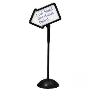 Safco WriteWay Directional Sign - Black Base