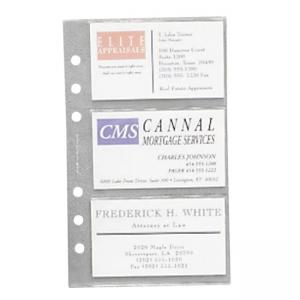 Samsill 81079 Clear Business Card Refill Page - Clear - 10 / Pack