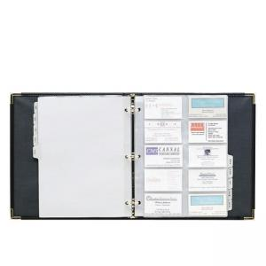Samsill Classic Vinyl Business Card Binder - Black