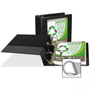 "Samsill Earth\s Choice Biodegradable Binders - Letter - 8.50"" x 11\"" - 2 PocketsD-Ring Fastener - 5\"" Capacity - Chipboard, Po"