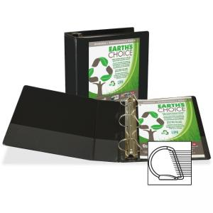 "Samsill Earth\s Choice Biodegradable Binders - Letter - 8.50"" x 11\"" - 2 PocketsD-Ring Fastener - 4\"" Capacity - Chipboard, Po"