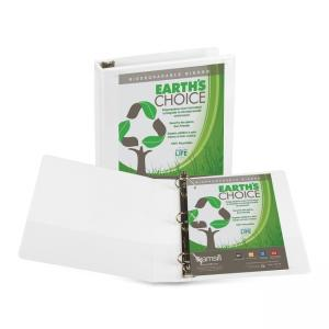 Samsill Earths Choice Biodegradable D-Ring View Binder - 2 x Paper Clear