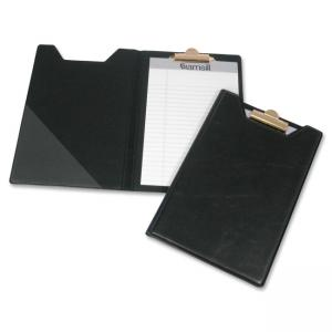 "Samsill 71400 Professional Pad Holder with Clip - 8.5"" x 5.5"" - Vinyl - 1 Each - Black"