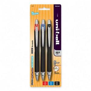 Sanford Jetstream Ballpoint Pen - 1 mm Black, Blue, Red Ink - 3 / Pack