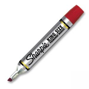 Sanford King-Size Marker - Red Ink - 12 / Dozen