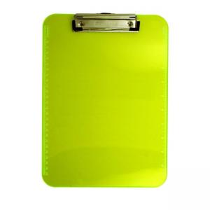 Saunders Neon Plastic Clipboard - Yellow - 1 Each