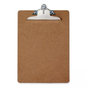 Saunders Recycled Memo Size Hardboard Clipboard - Brown 1 Each