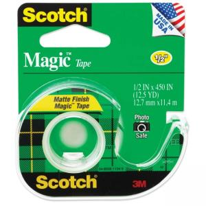 Scotch Magic Tape with Handheld Dispenser - Width 0.50""