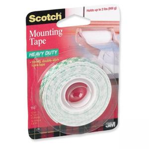 Scotch 110 Mounting Tape - Double Sided - 1 Roll - White