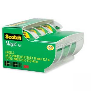Scotch Magic Tape - Non-yellowing, Writable Surface