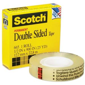 Scotch Double-Sided Tape - 1 Roll - Clear