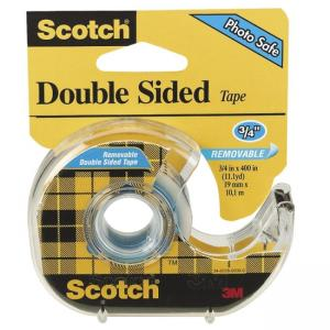 Scotch Double Sided Tape with Handheld Dispenser - 1 Roll - Clear