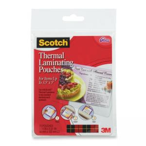Scotch Index Card Size Thermal Laminating Pouch - 20 Pack - Clear