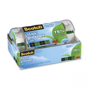 "Scotch Magic Transparent Tape - 0.75"" Width x 50 ft Length - Photo - 8 / Pack"