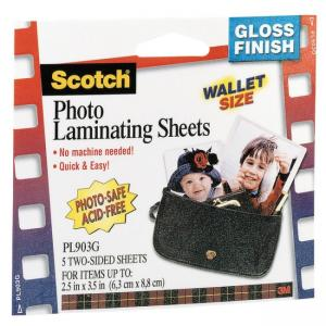 3M Scotch Self-Sealing Laminating Pouche - 6 / Pack - Clear