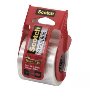 Scotch Strapping Tape with Dispenser - 1 Roll - Clear