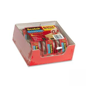 Scotch Super Strong Packaging Tape With Dispenser - 6 / Pack - Clear